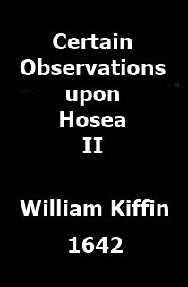Observations upon Hosea the Second