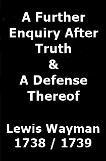 Wayman Further Enquiry After Truth